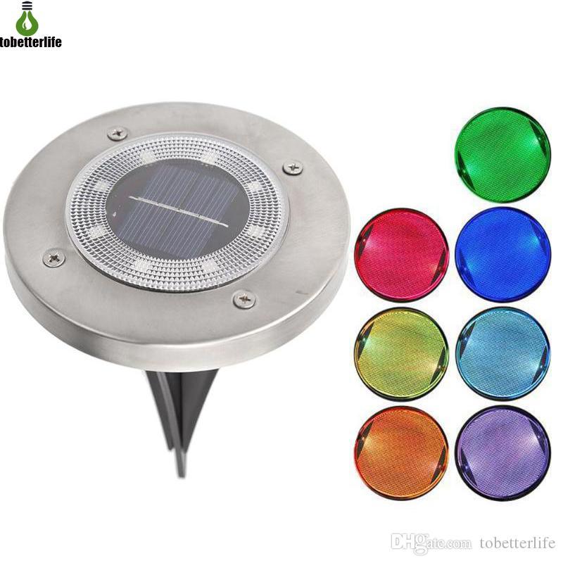 IP65 su geçirmez 8 LED Güneş Açık Zemin Lambası Peyzaj Çim Yard Merdiven Yeraltı Gece Işığı Ev Bahçe Dekorasyon gömüldü
