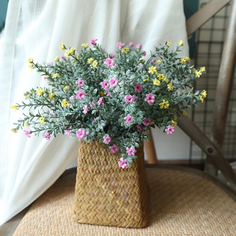 Plastique artificielle Fleur Herbe Plantes Babysbreath mariage Home Décor Party de bureau Flower House Décor