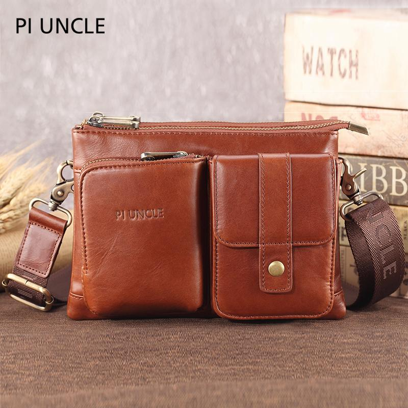 Натуральная кожа мужская Crossbody сумки сотовый телефон сумка мужчины старинные небольшой кожаный путешествия сигареты крест тела денежные мешки