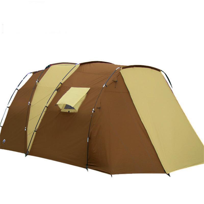 500 * 280 * 195 Grandes tiendas de campaña 5-8 persona Dos dormitorios Escalada carpas al aire libre impermeable de doble capa que acampa yendo Carpa