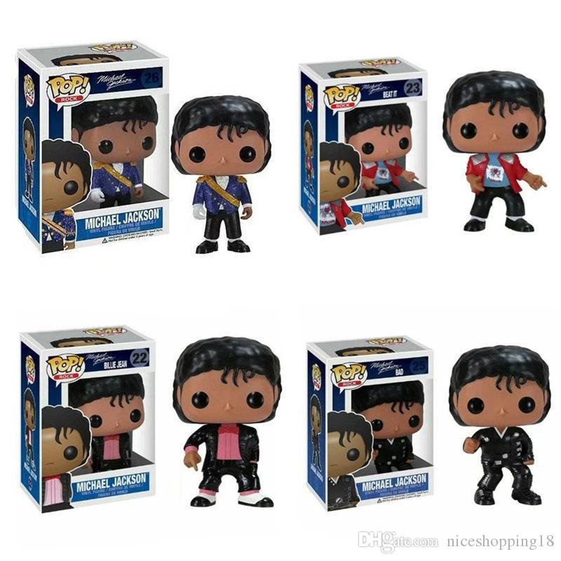 New Funko Pop Rock Michael Jackson Beat it Billie Jean Bad Action Figures !!!