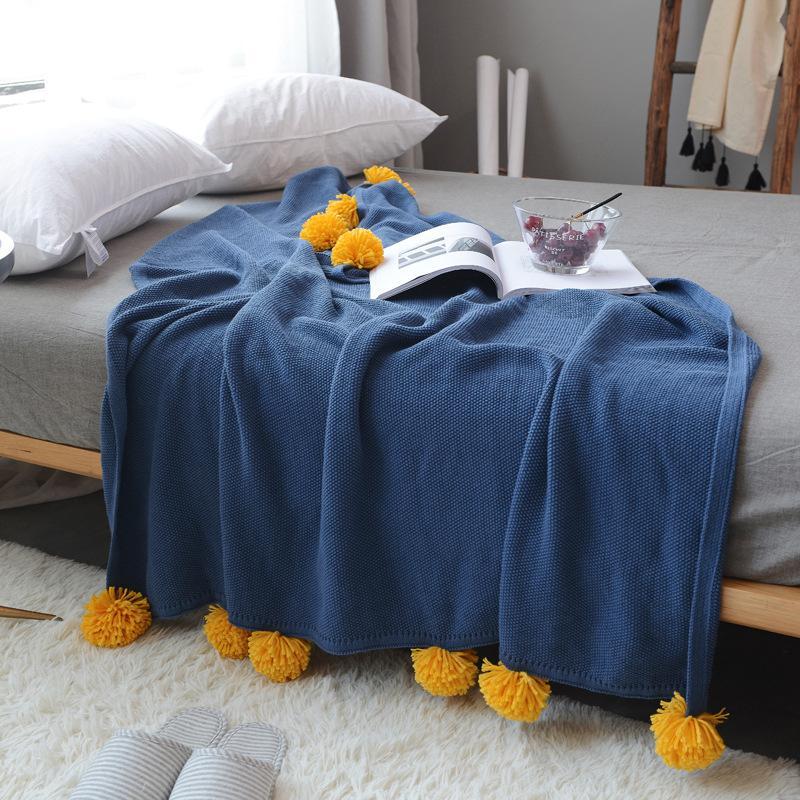 2020 Hot Sale Knitting confortável de alta qualidade macia Sofá Ar condicionado Blanket lance velo Enrole Quente Tópico Toalha Cobertores BK01