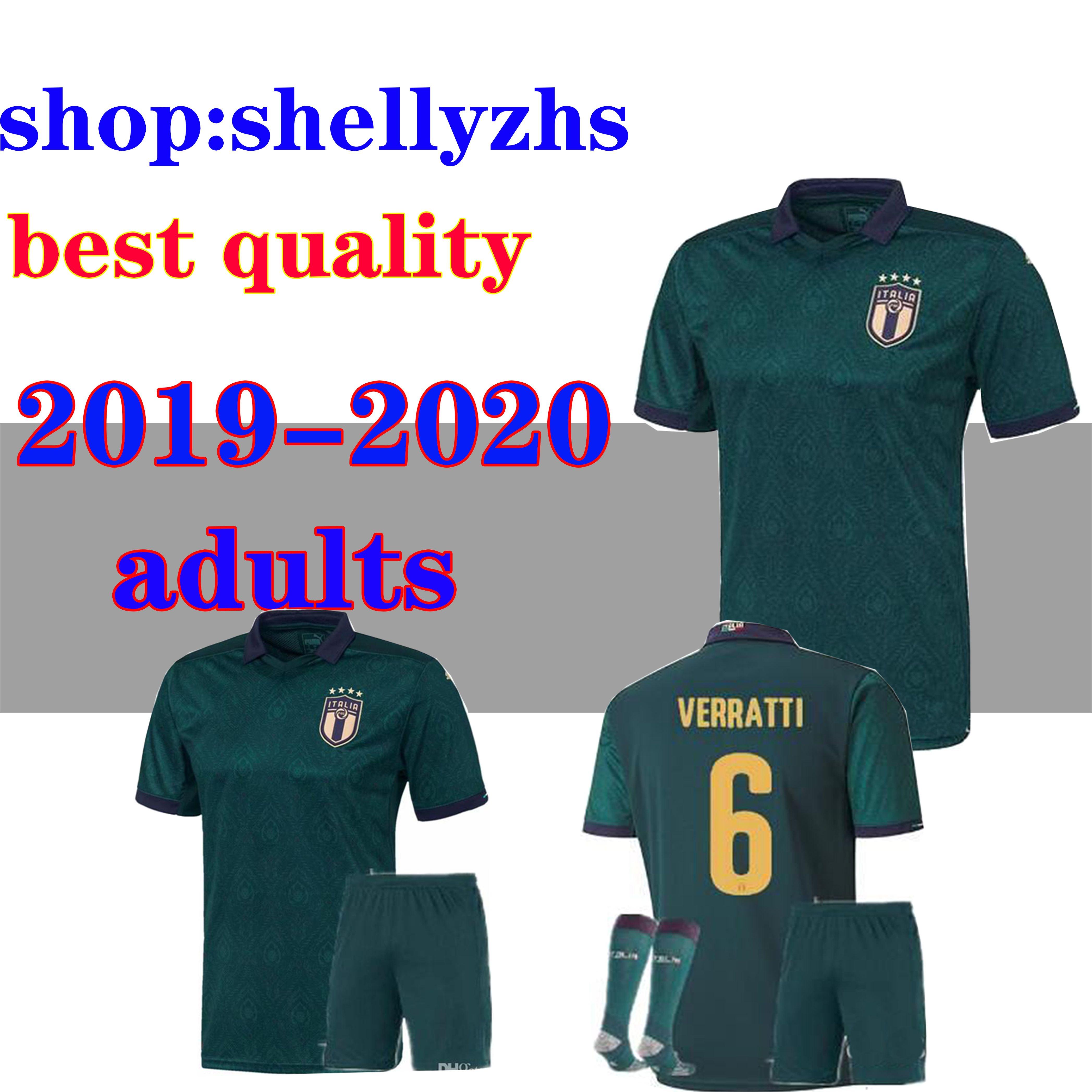 19 20 ITALY 3rd kit+socks men soccer Jerseys 2019 2020 uropean Cup national team Italy BONUCCI IMMOBILE INSIGNE Third Football jersey shirt