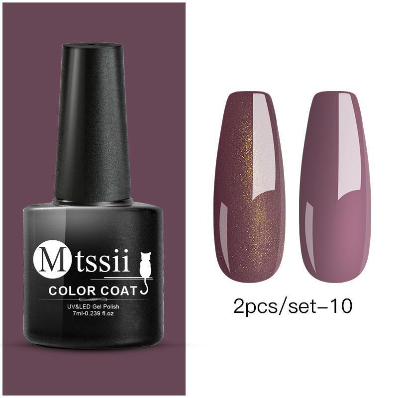 MTSSII 5Bottles/set Color Soak Off UV Gel Nail Polish