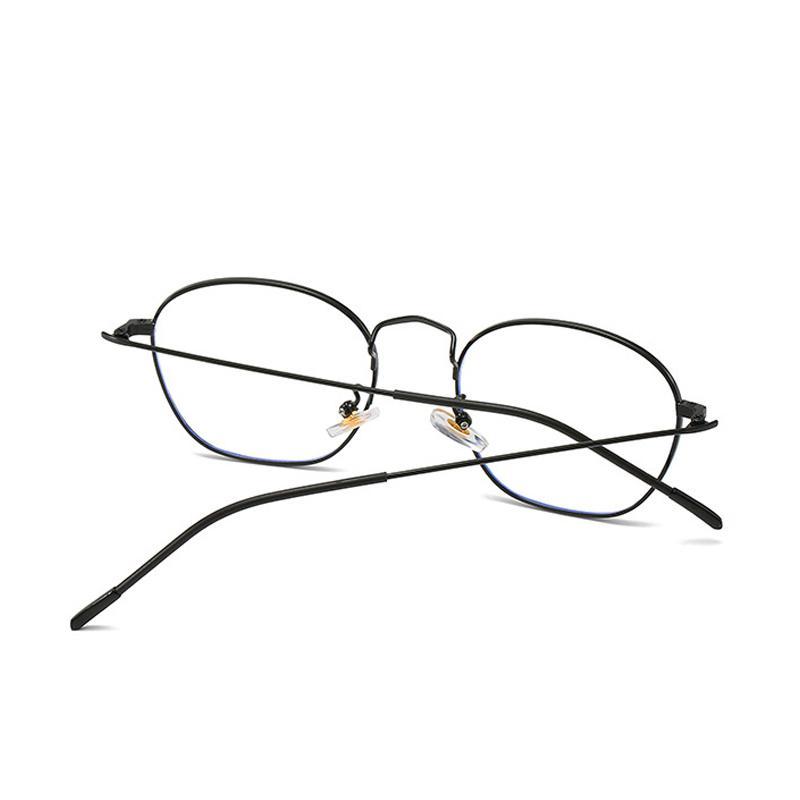Anti Luz Azul Óculos óculos de armação dos homens de computador GlassesMetal Prescription Eye KOTTDO Polygon Vintage Irregular Mulheres