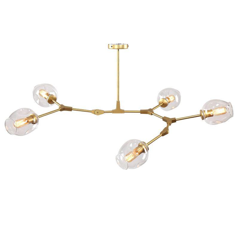 الشمال غلوب الثريا 110-240V الحديثة LED الإضاءة الخفيفة الثريا مصباح معلقة زجاج الكرة Hanglamp ضوء الثابت E27