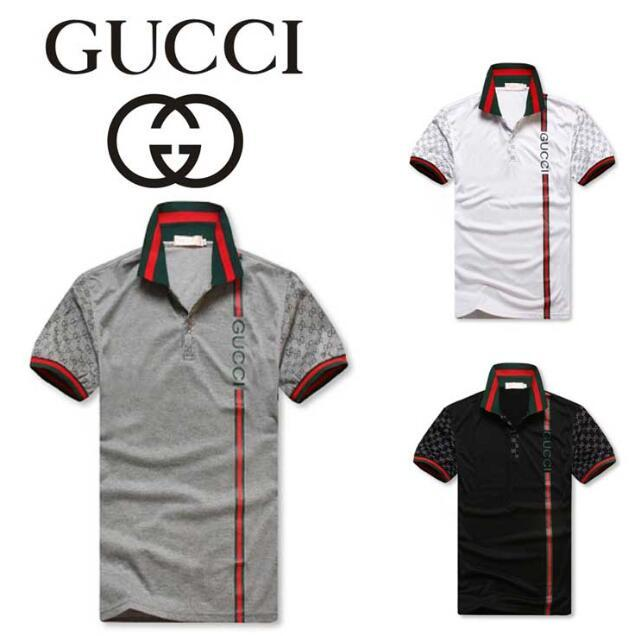 94ef01d3 Gucci Men's Hoodies short sleeves polo shirt 8958 T-shirt Embroidery Polo  Shirt For Men ...