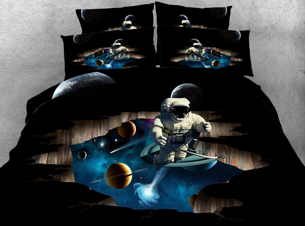 2021 Printing 3d Galaxy Astronaut Duvet, Queen Size Holiday Bedding