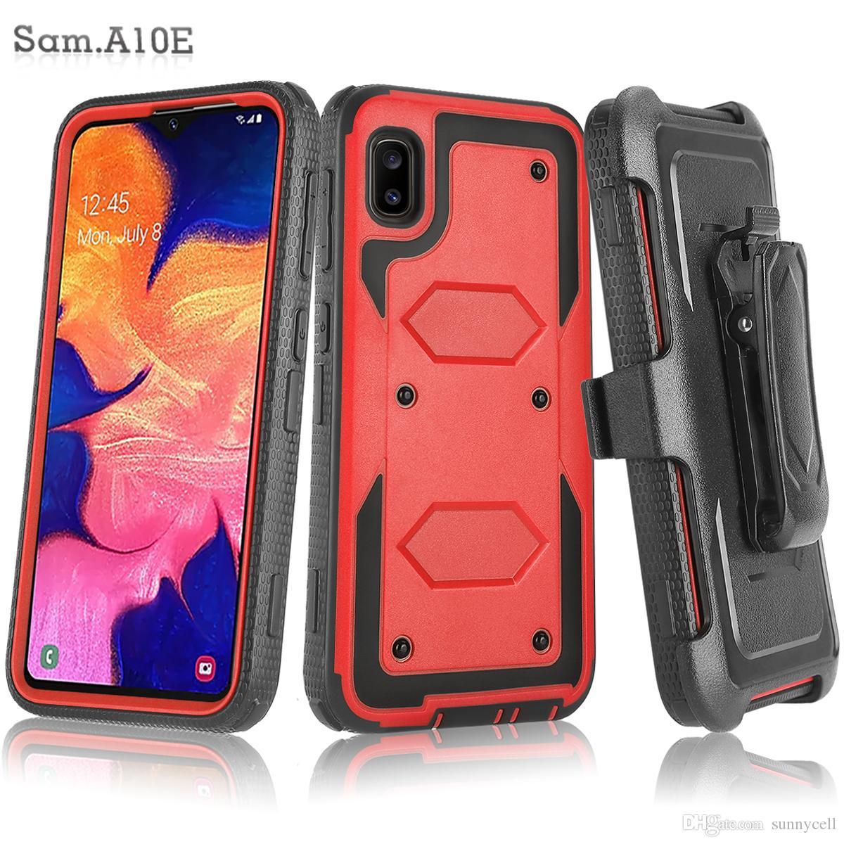 Pour Samsung Galaxy A310 A510 A710 J260 Heavy Duty antichocs Holster Clip ceinture Rotatif Béquille Defender couverture
