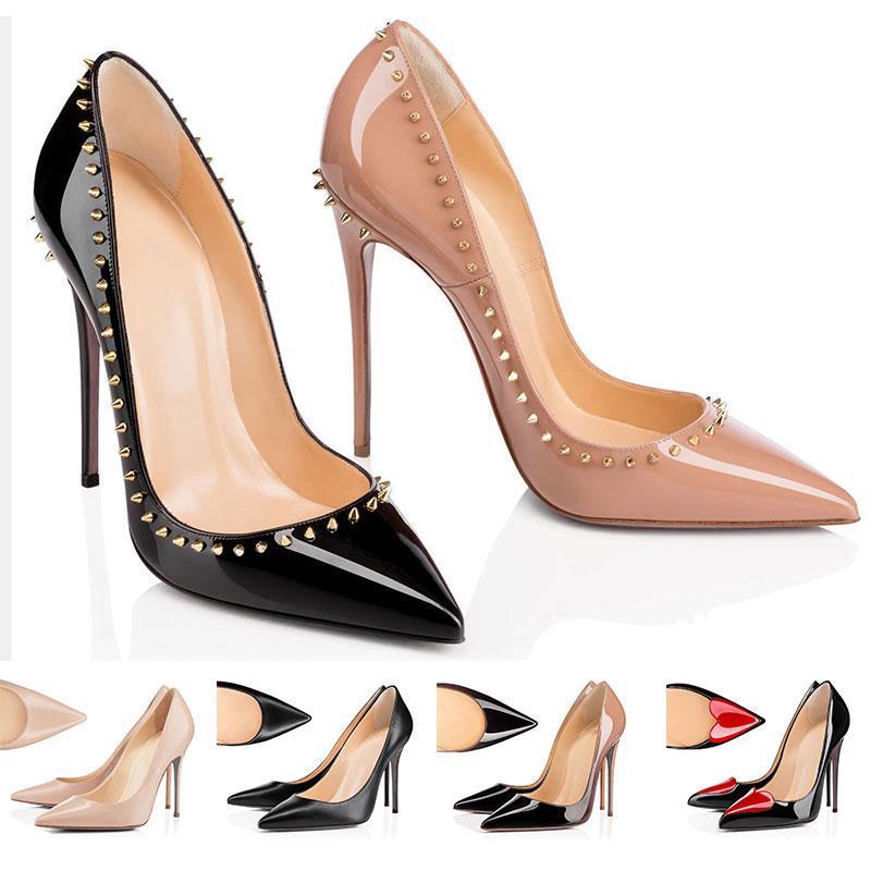 Designer Scarpe sneakers Così Kate Stili tacchi rossi Bottoms Tacchi 8 10 12CM Genuine Leather Point Toe Pumps dimensione Rubber 35-42 WithBox