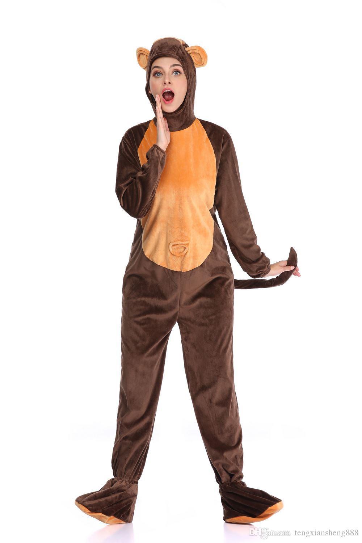 Girls Boys Kids Furry Monkey Zoo Animal Halloween Fancy Dress Costume Outfit
