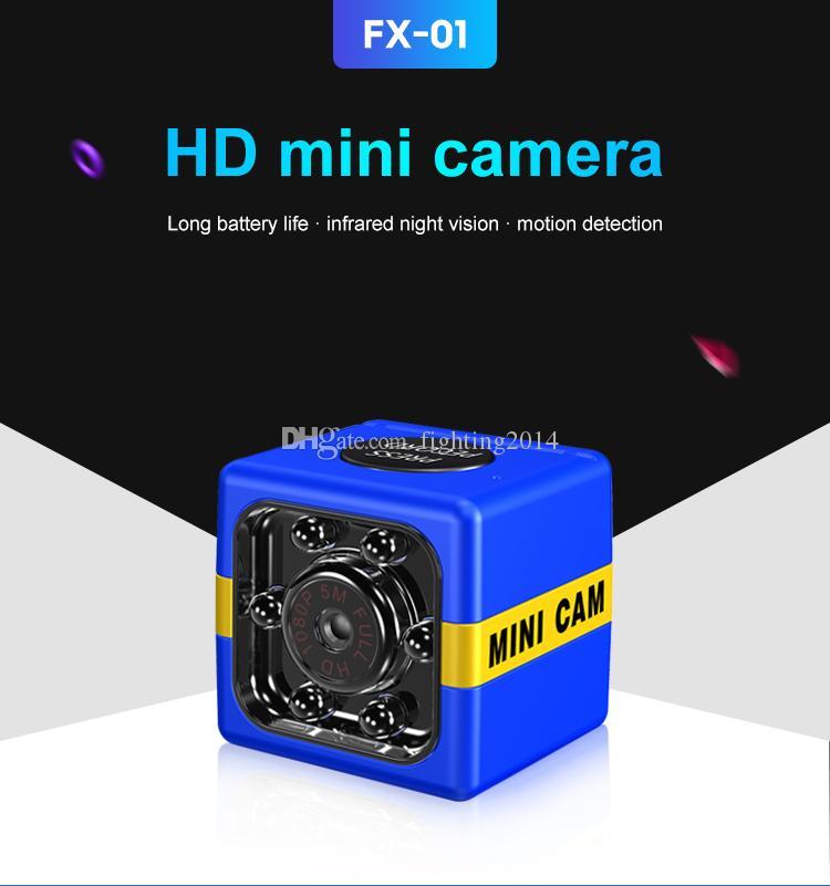 TF card supporto videocamera FX01 mini DV macchina fotografica HD 1080P sensore di visione notturna della videocamera portatile dell'automobile DVR infrarossa di sport del registratore digitale