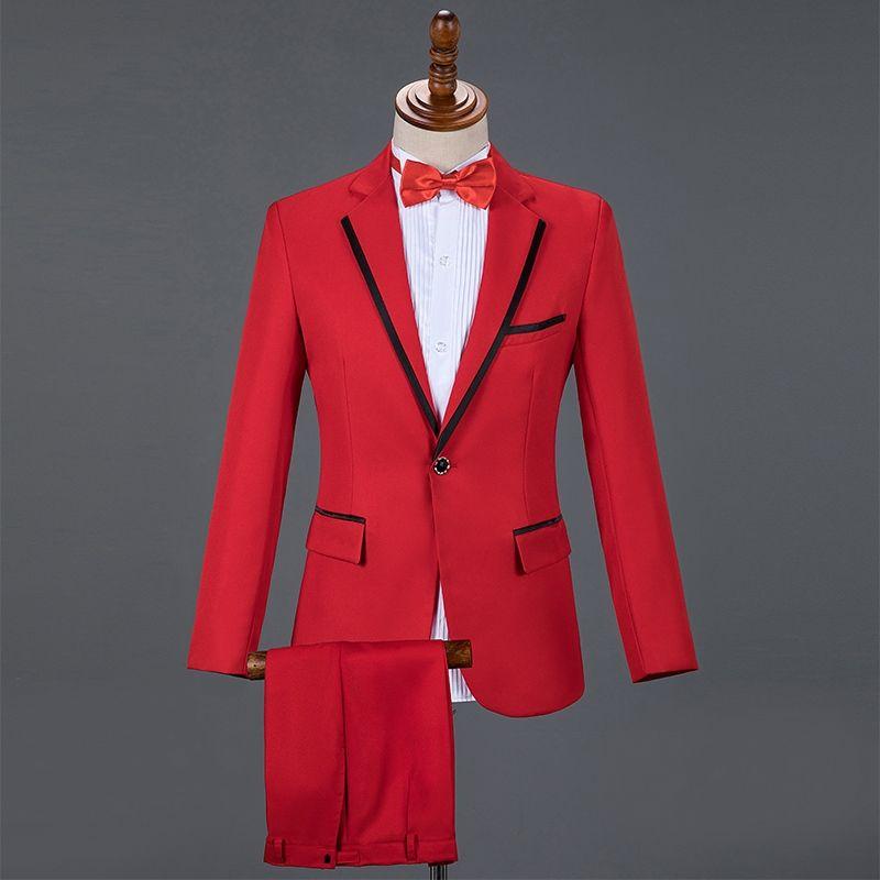 Custom Made Noivo Smoking Red Groomsmen Custom Made Side Ventilação Best Man Wedding Suit / Men Suits Noivo (Jacket + Pant + Vest)