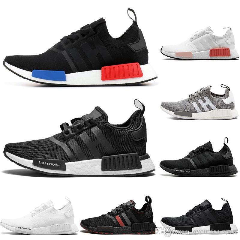2020 Großhandel R1 Schuhe NMD Japan rot Donner Tri-Farbe Grün Camo Runner R1 PK Low Männer Damenschuhe Klassische Sportschuhe Bred