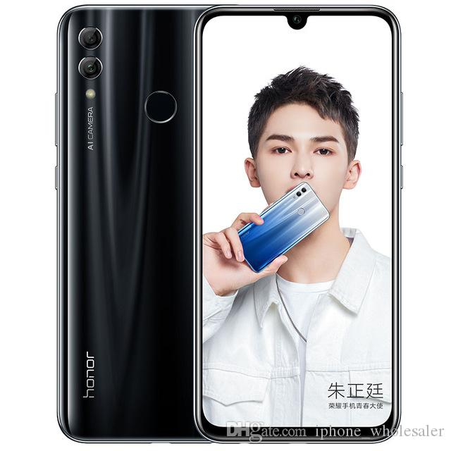 "Оригинал Huawei Honor 10 Lite 4G LTE сотового телефон 6GB RAM 64GB 128GB ROM Kirin 710 окт Ядро Android 6,21"" 24.0MP Fingerprint ID мобильный телефон"