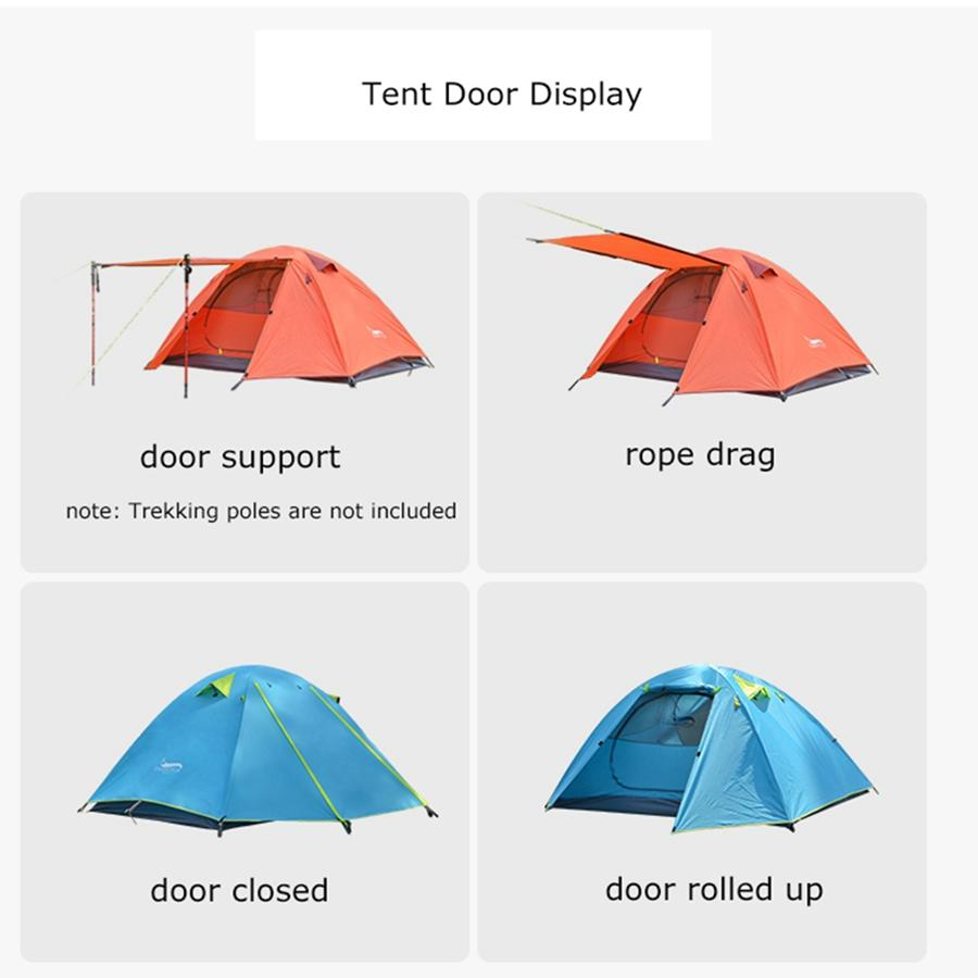 Desert&Fox Single Camping Tent, Aluminum Poles Double Layers Waterproof Large Space Portable Storage Package Travel Tent