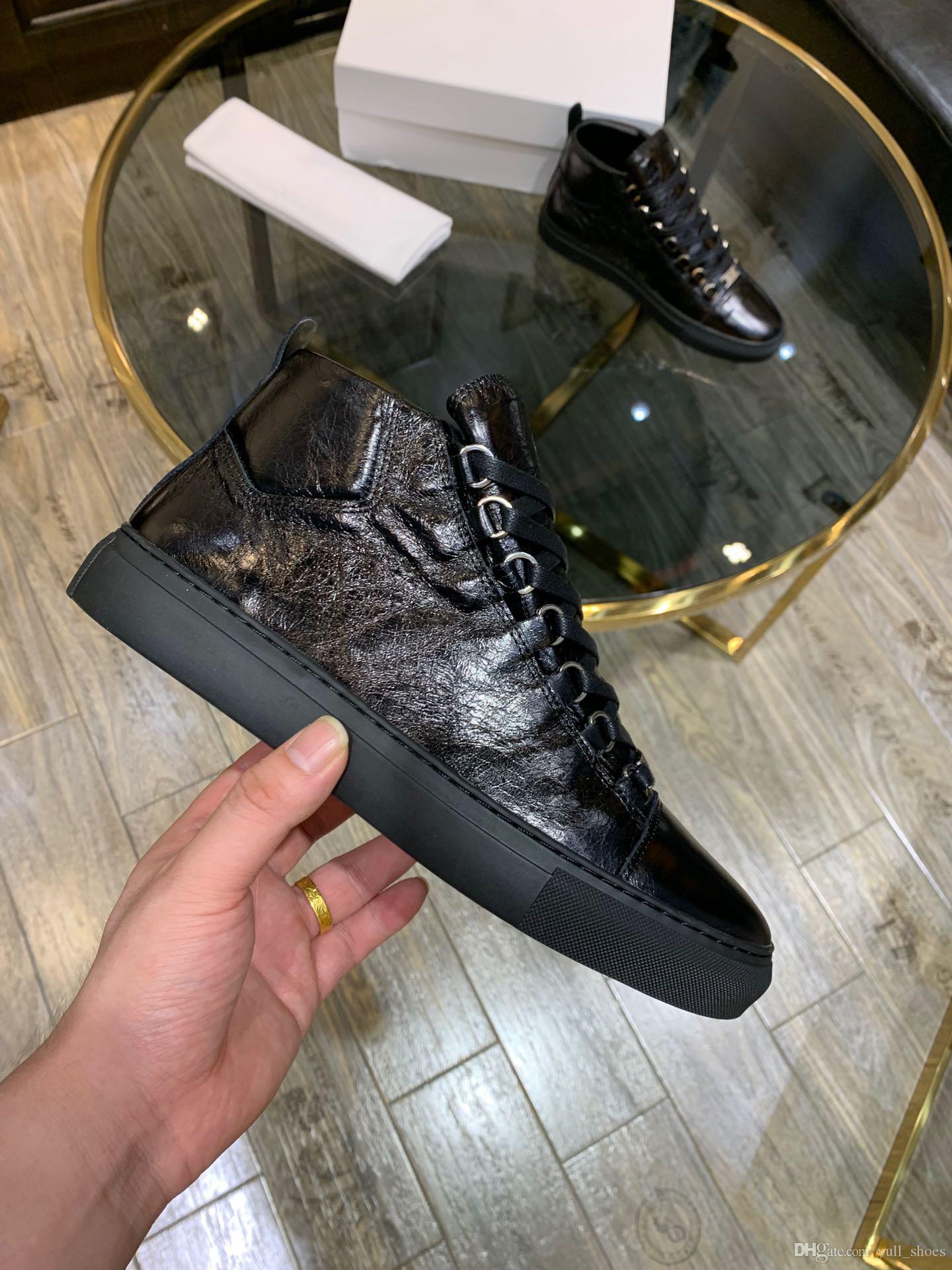 2020 reflectante de plata blanco del Medio superior de tacón bajo del diseñador de moda de lujo de los hombres zapatos de plataforma Chaussures reflectante 3M Triple bota para caminar Casual