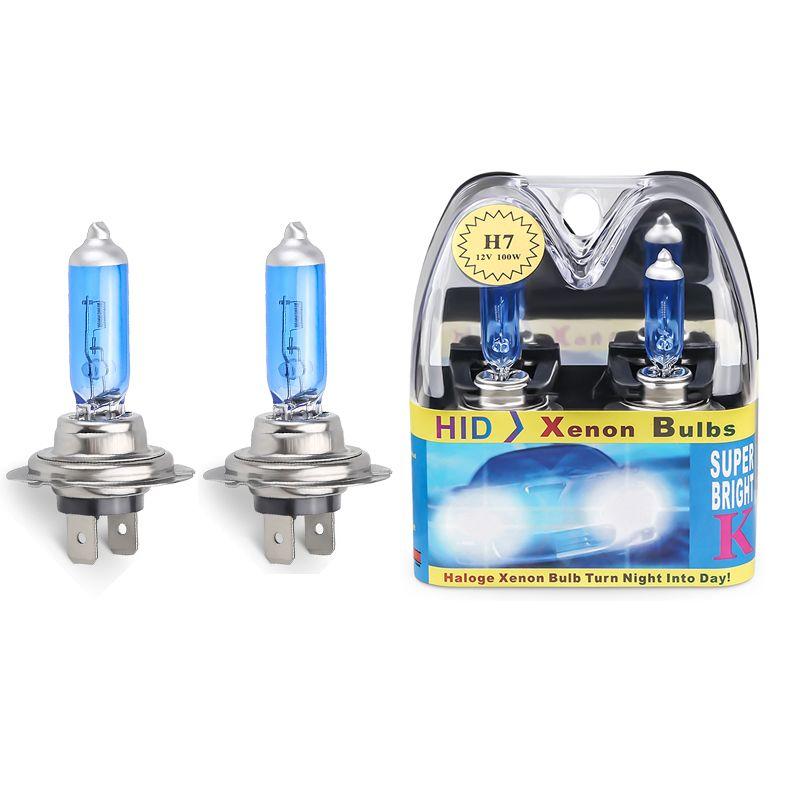 2pcs 6000k Super Bright White H7 Lampada alogena 12V lampadina del faro H7 55W 100W Lampada alogena faro dell'automobile di ricambio