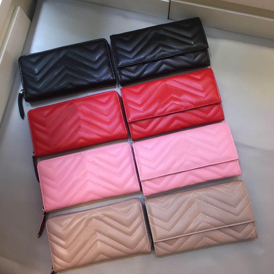 borsa del supporto di alta qualità del raccoglitore della carta di marca signore di modo progettista catena Genuine Leather wallet bag