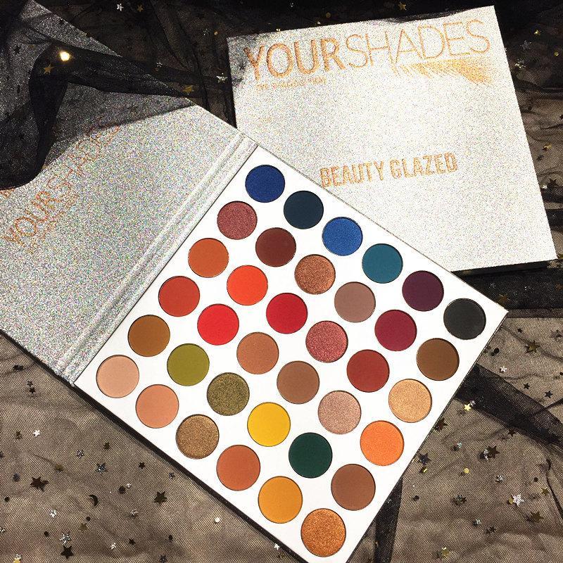 New Original Beauty Glazed Professional Makeup 36 Colours EyeShadow Palette Pigment Matte Makeup Palette Cosmetics high quality