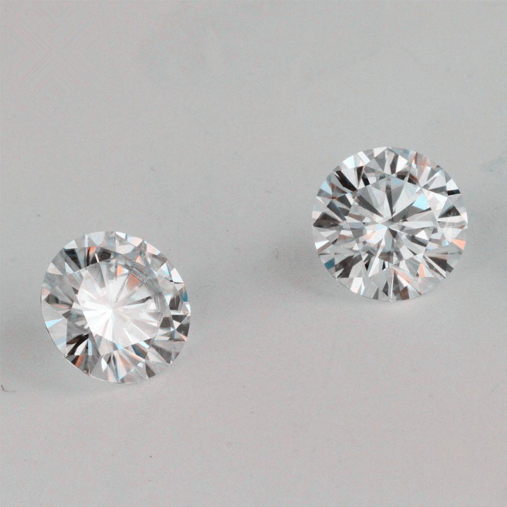 تقديم شهادة اختبار إيجابي IJ اللون جولة بريليانت قص 6.5MM 1CT VVS ضوح مختبر نمت المويسانتي الماس للحصول على القرط