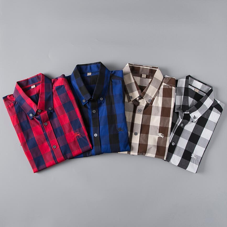 2020.New camisas de vestir de hombre manera de la camisa de los hombres ocasionales de la medusa camisas del oro impresión floral delgado apto de las camisas Men127