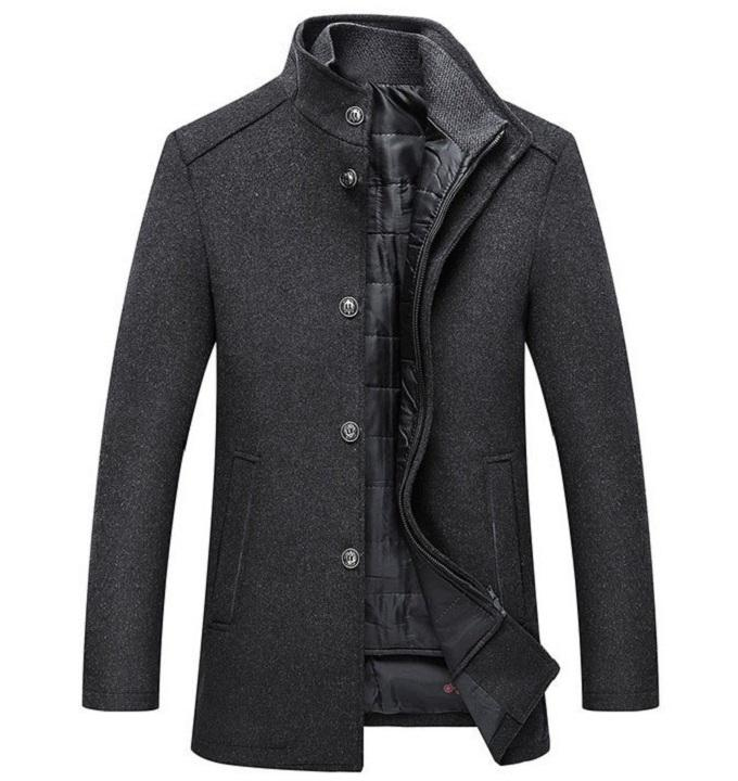 Hot sale Warm Wool Coat Men Thick Overcoats Topcoat Mens Single Breasted Coats And Jackets With Adjustable Vest Men's Coat