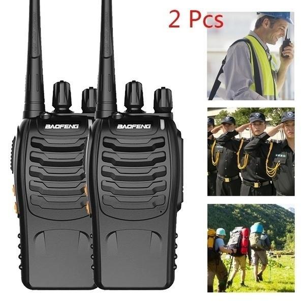 2 шт 5KM Range Wireless Walkie Talkie UHF 400-470MHz 5W Ручной двухсторонняя Ham Radio Hot Sale