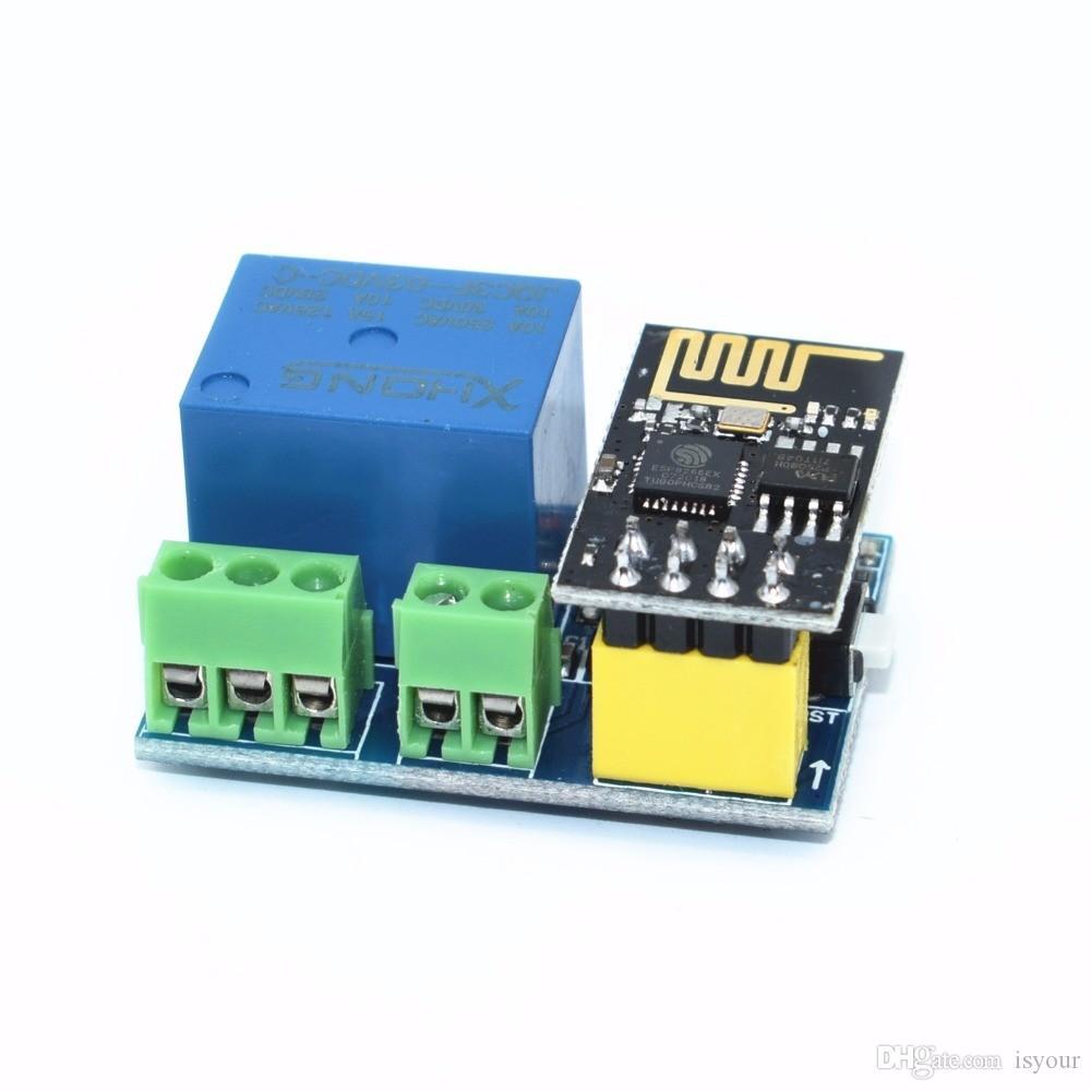 Freeshipping 10 قطع ESP8266 ESP-01 5 فولت wifi تتابع وحدة الأشياء المنزل الذكي التحكم عن التبديل الهاتف app ESP01 اللاسلكية wifi
