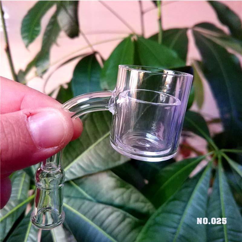 30mm-Qualität 100% Echter Quarz Banger Nagel mit Quarz-Cup Thick 90 Grad Bohrinseln Eimer für Glas bong fg