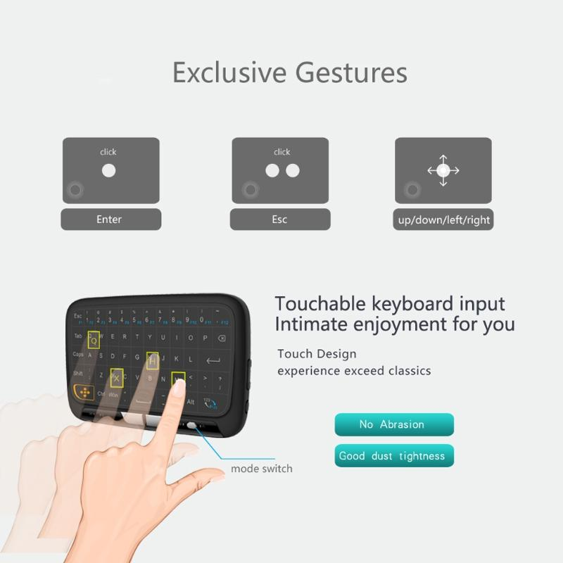 Small size H18 Wireless Keyboard Air Mouse Touch screen keyboard 2.4GHz For Smart TV Box PC Android