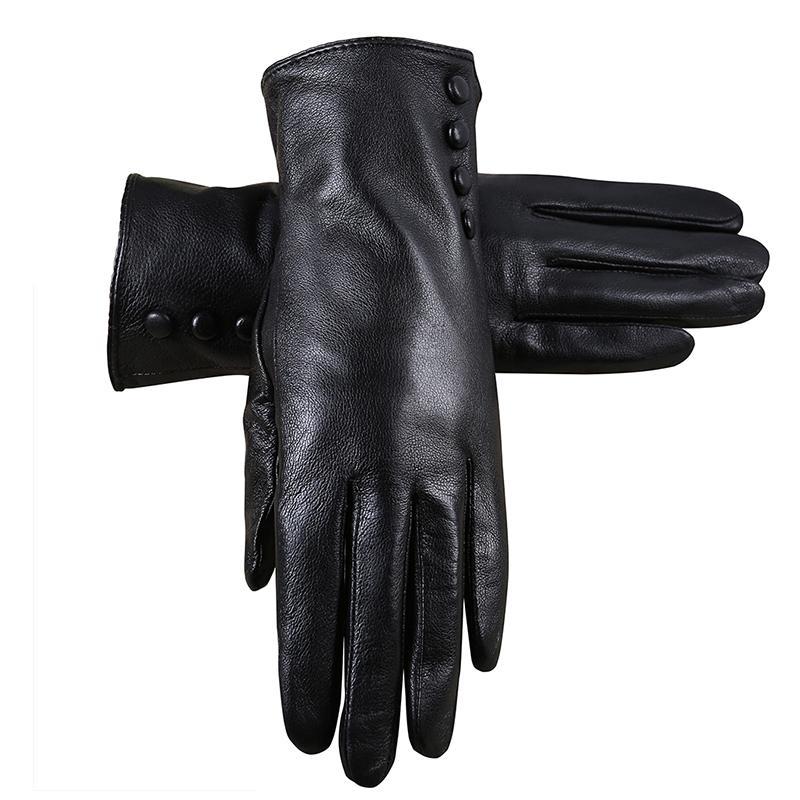 New Style Leather Gloves Women Winter Gloves Really Fur sheepskin leather Warm Fur Women
