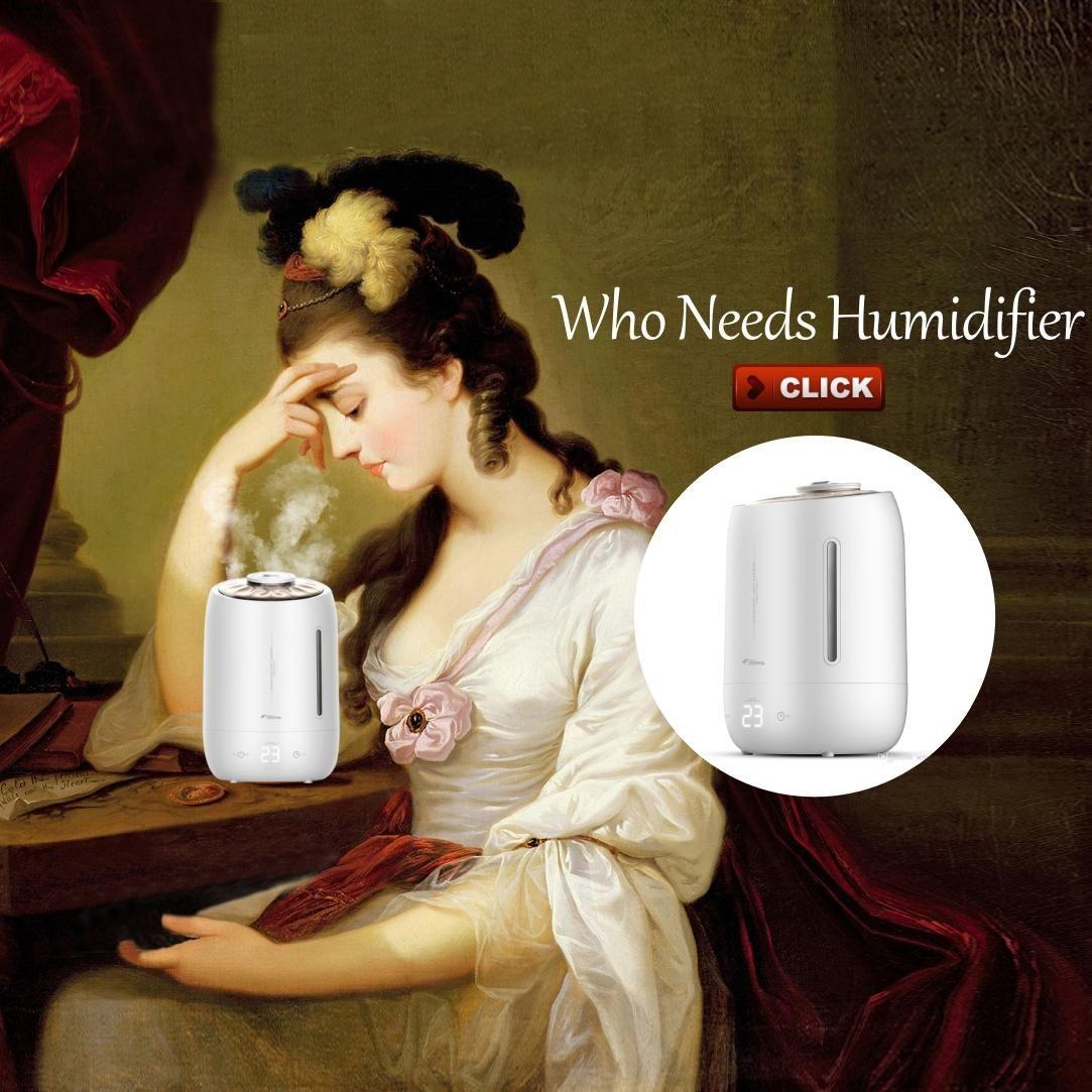 Xiaomi Deerma humidificateurs 5L Grand Mute Ultrason Capacité de stérilisation Humidificateur Diffuseur d'air Aroma Purificateur Maker Mist