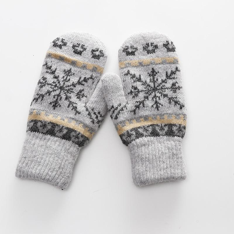 Women Gloves Winter Knitted Warm Gloves Delicate Pattern Windproof Mittens Heated For Christmas