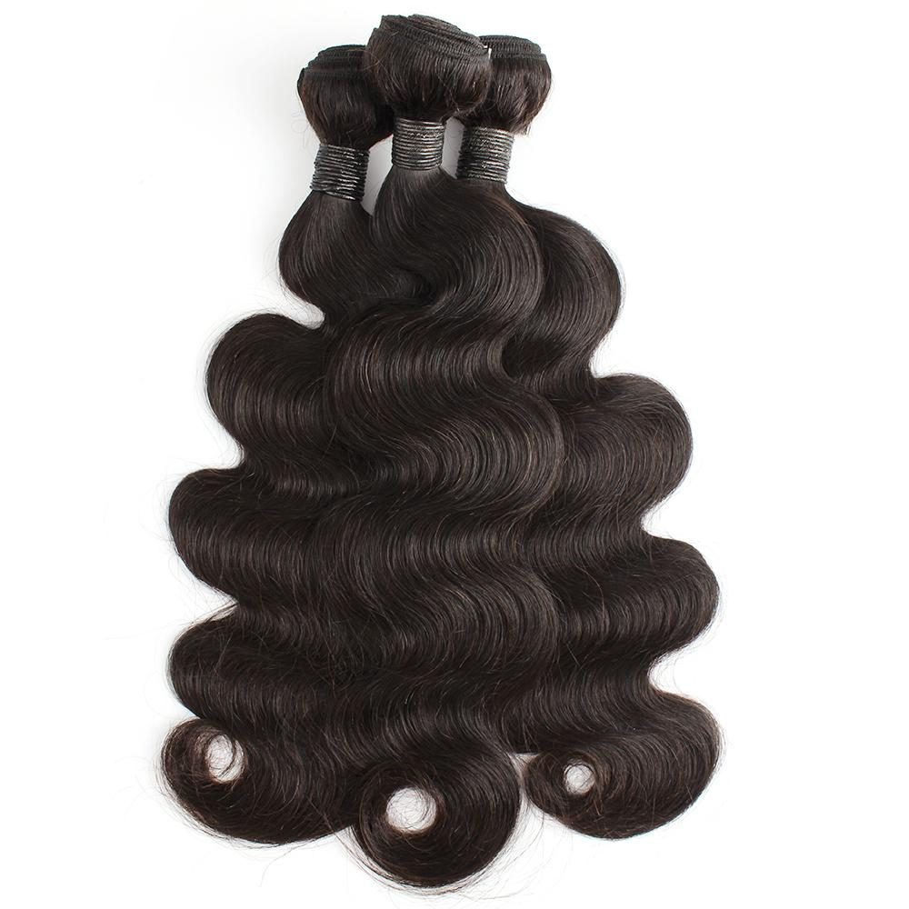 Kisshair 3 حزم 12-32 بوصة موجة الجسم ريمي البرازيلي عذراء الشعر غير المجهزة بشرة محاذاة الشعر البشري الخام
