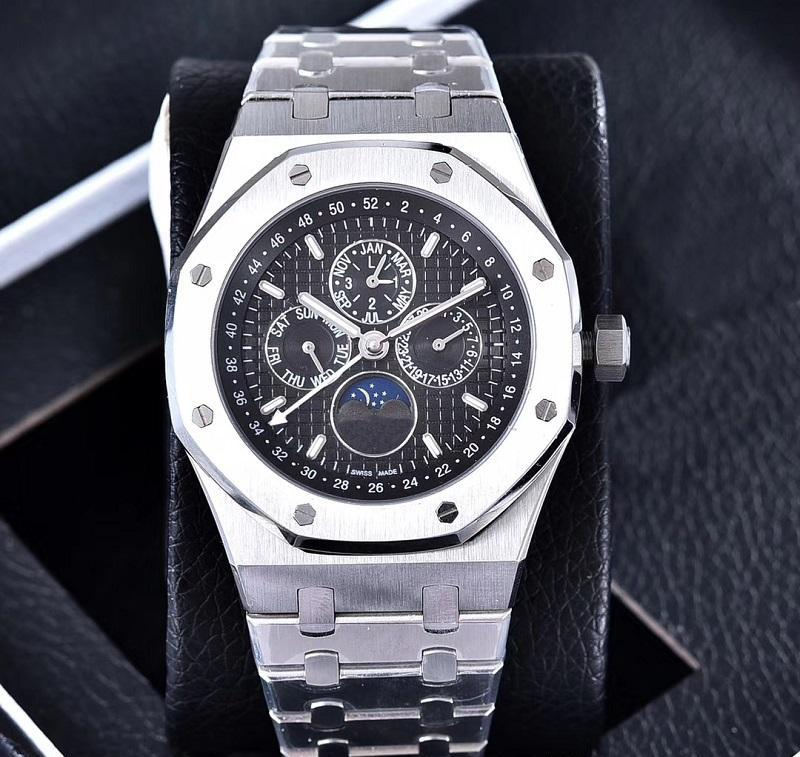 2020 дизайнер Роскошные мужские часы Marka saatler Мужские VK Хронограф японский кварцевый каучуковый ремешок Спорт Мужские часы Наручные часы