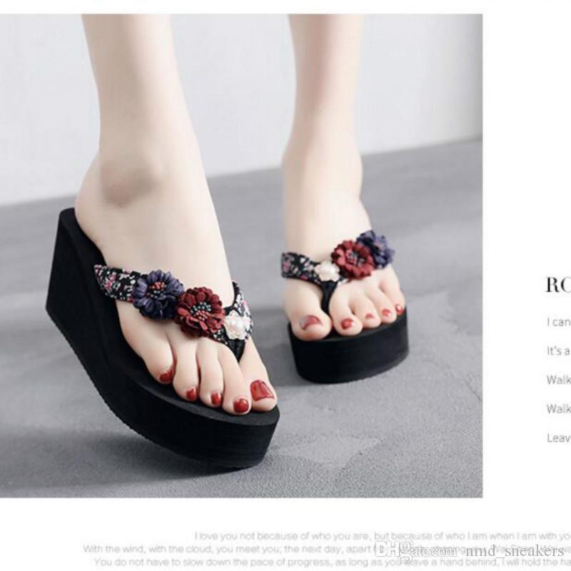 Fashion High Heeled Slippers Female