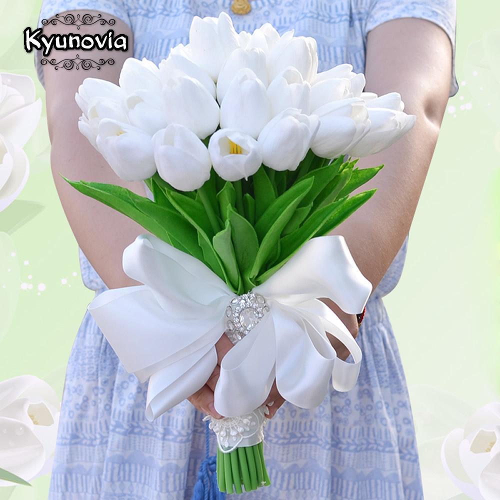 2020 Kyunovia Artificial Flower Mini Tulips Centerpieces Real