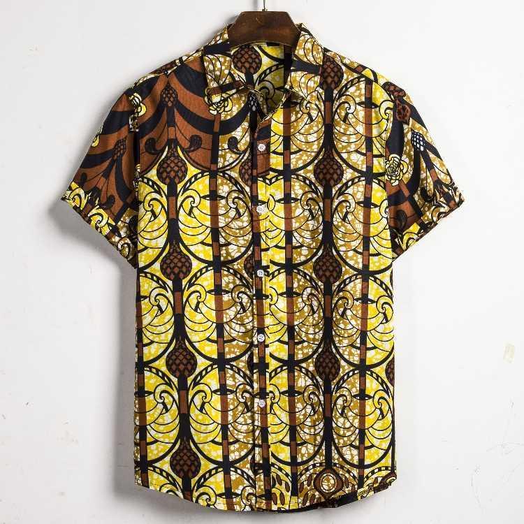Imprimir Moda Planta Tropical Camisa Havaiana Homens de manga curta Beachwear Aloha camisas havaianas Verão soltos roupa ocasional Homens