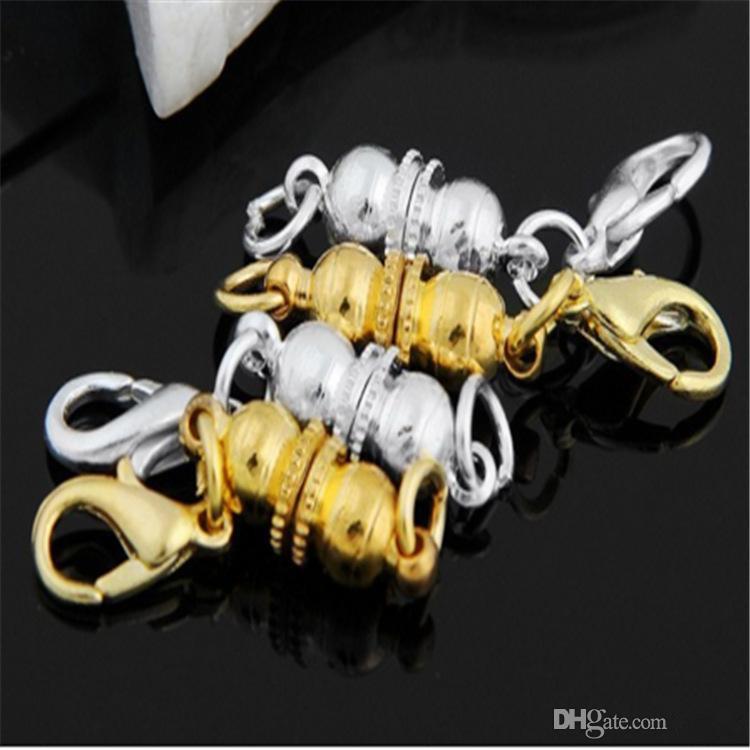 Nouveau argent / plaqué or magnétique collier magnétique fermoirs en forme de boule fermoirs pour collier bracelet bijoux bricolage
