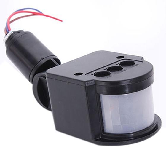 Promotion! LED Lumière de sécurité infrarouge détecteur de mouvement PIR capteur mur extérieur lampe noire