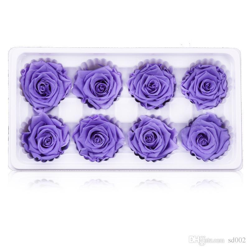 DIY 인공적인 장미 꽃 밝은 색깔 가정 훈장 섬세한 말린 꽃 결혼식 축제 공급 새로운 스타일 27hl Ww