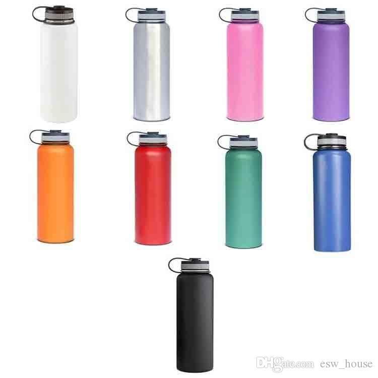32 oz garrafa de água a vácuo garrafa isolados 304 de água de aço inoxidável de boca larga grande capacidade bott viajar água