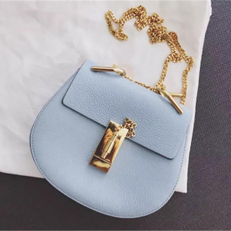 Modo libero di trasporto sacchetti genuini del progettista strato spalla bovina capa Piggy pacchetto del grano del litchi Packet singolo Span Mini Bag