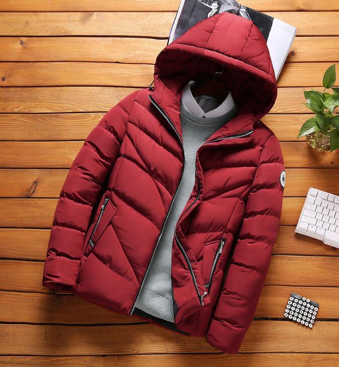moda 2020 corta con cappuccio in cotone giù il cappotto imbottito uomini giovani nuovi uomini di cappotti di cotone casuale coreano cappotto casuale giacca invernale Cappotti