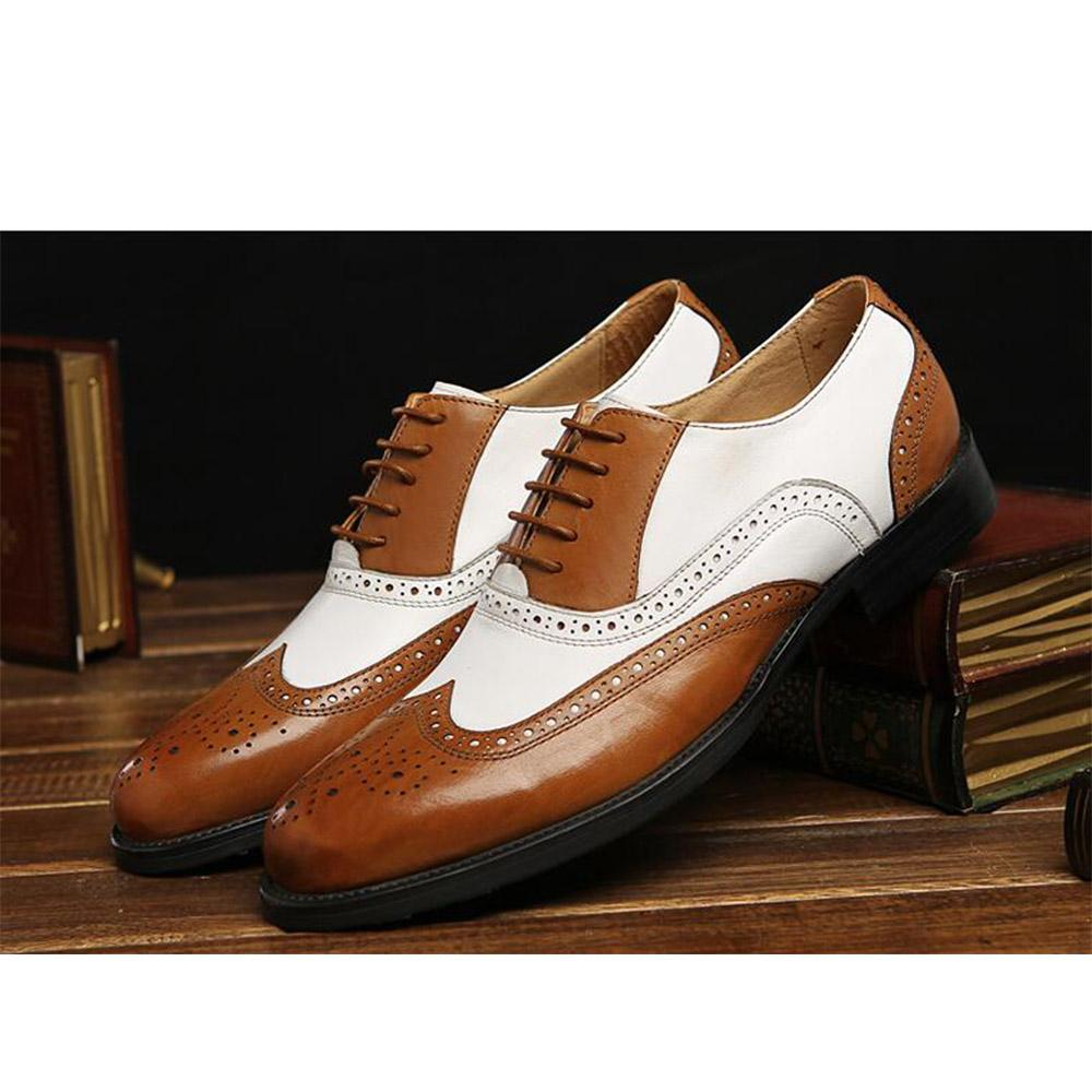 Sipriks Luxury Schwarz Weiß Herren Kleid Schuhe Vintage Mens Spectator Oxfords Männer Schuhe Braun Weiß Europäische Anzüge Bräutigam Schuhe 45