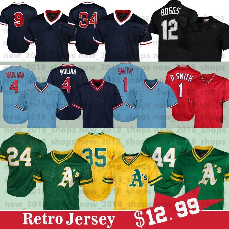 24 리키 헨더슨 (44) 레지 잭슨 4 야 디어 몰리나 오지 스미스 (12 개) 웨이드 보그스 9 테드 윌리엄스 (34) 데이비드 오티즈 야구 유니폼