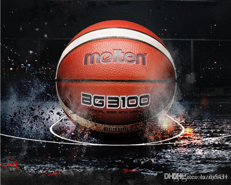 Otantik Erimiş BG3100 basketbol boyutu 7 Kapalı açık Aşınma dayanıklı Yumuşak PU deri maç eğitim basketbol topu