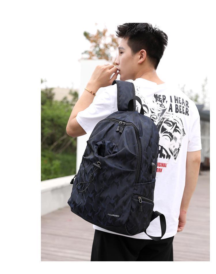 Moda tasarımı su geçirmez erkek bilgisayar sırt çantası çok fonksiyonlu öğrenci çantası USB şarj sırt çantası açık seyahat çantası toptan