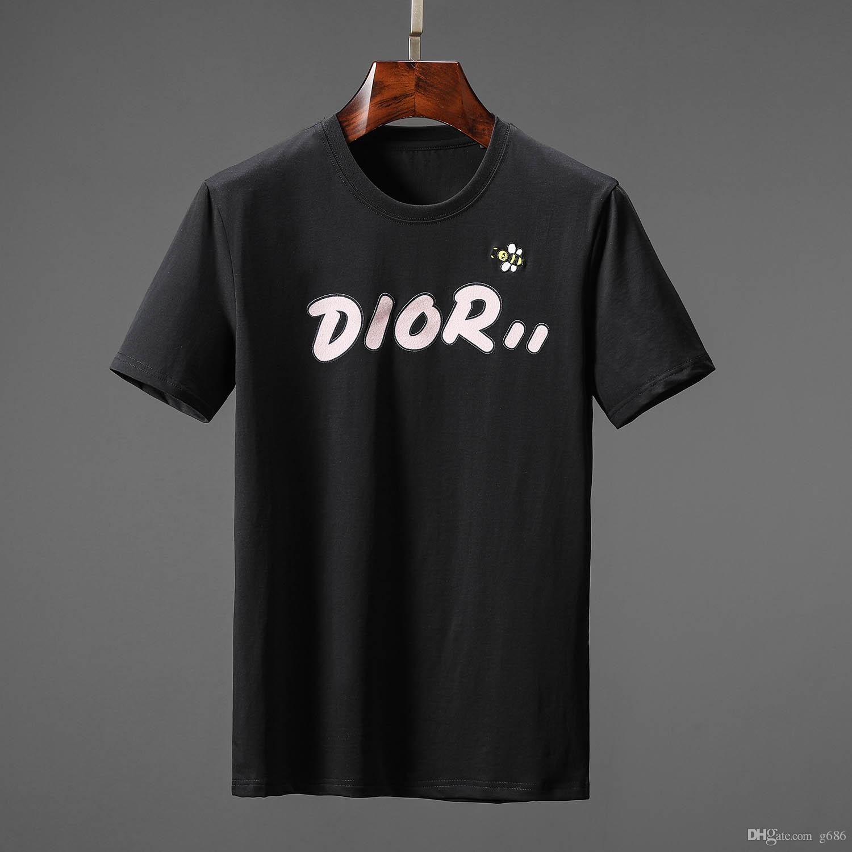 2020 Mens Shirt Sommer Tops Casual T-Shirts für Männer Frauen Kurzarmhemd Kleidung Letter-Muster gedruckt T-Shirts mit Rundhalsausschnitt g686